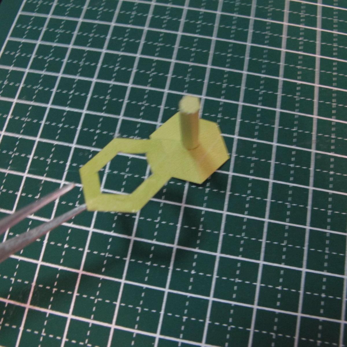 วิธีการทำโมเดลกระดาษเป็นสตอเบอรี่สีแดง 009