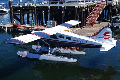 Floatplane in Ganges, Saltspring Island, Gulf Islands, Georgia Strait, British Columbia, Canada