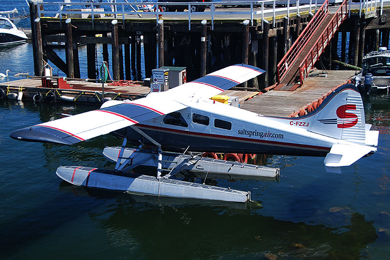 Floatplane in Ganges, Saltspring Island, Gulf Islands, Georgia Strait, British Columbia, Canada