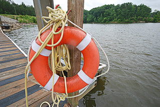 lifering safety dock Occoneechee State Park | by vastateparksstaff