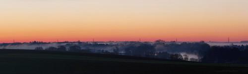 sunrise fog grandriver panorama conestogo waterlooregion ontario canada panasoniclumixg85 microsoftice gimp