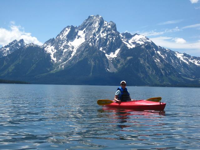 Kayaking in Colter Bay Grand Teton National Park