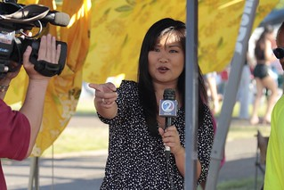 Kristine Uyeno reporting for KHON2 | Real time imagery from