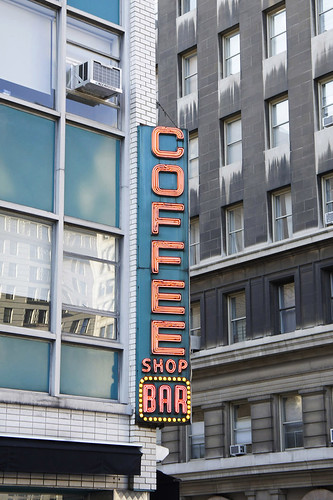 sign #4: coffee shop bar   by filipthedesigner