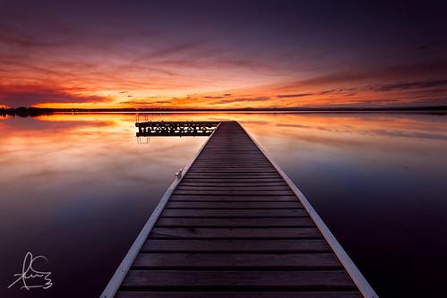 longexposure sunset water reflections bay pier twilight dusk jetty nsw centralcoast peelst canon1740mmf4 toukley canon5dmarkii singhrayreversendgrad3stops
