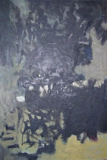 Walter Kuhlman, Untitled, 1953. Oil on canvas, 40 x 27 inches. | by Marika Herskovic