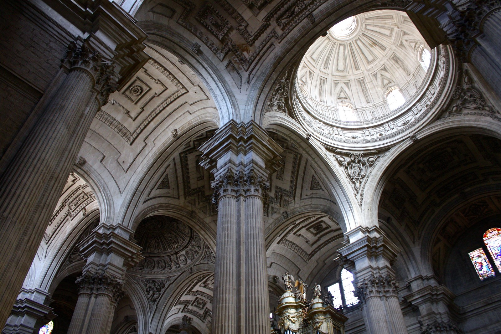 Ceiling vaults in Jaén cathedral, Spain