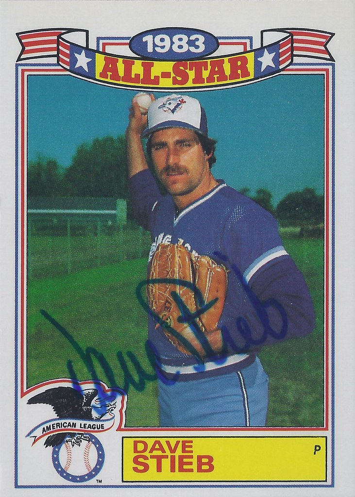 b52bf1fe28b 1984 Topps Glossy All-Stars - Dave Stieb  10 (Pitcher) - Autographed  Baseball Card (Toronto Blue Jays)