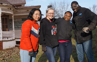 Sun, 01/22/2017 - 01:24 - left to right are: Hibari Nozaki from Osaka, Japan, who is studying Liberal Arts & Sciences at GCC; Angela Ormund from Falconer, NY who is studying Tourism & Hospitality Management at GCC; Olubunmi Ajayi from Lagos, Nigeria who is studying Nursing at GCC; and Khalifa Niasse, originally from the Bronx who is a graduate assistant at College Village. Not Pictured: Misaki Kasai from Aichi, Japan a Business Administration & Liberal Arts & Sciences major at GCC.