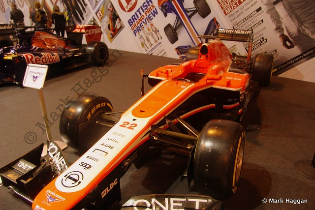 Jules Bianchi's Marussia at the Autosport International Show 2014