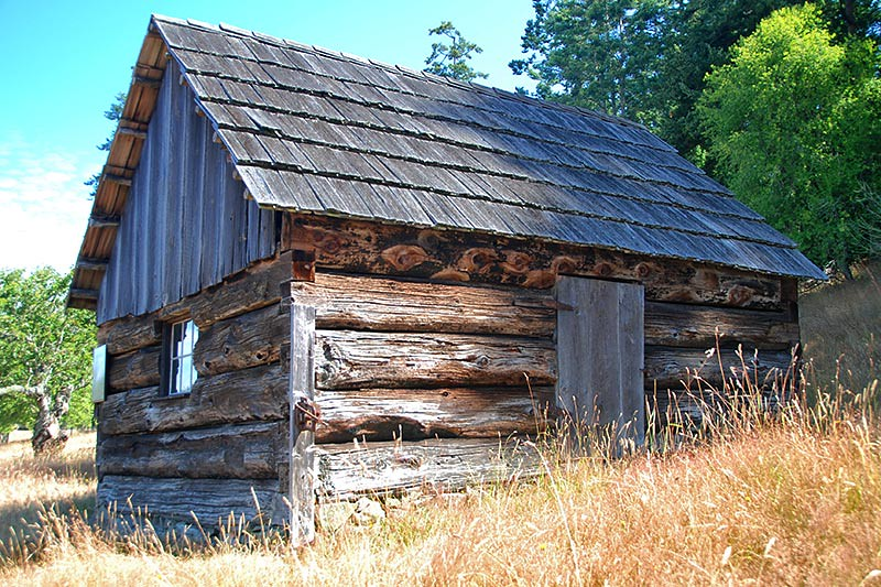 The Forge, the Oldest Outbuilding at Ruckle Farm (1878) in Ruckle Park, Saltspring Island, Gulf Islands, British Columbia, Canada
