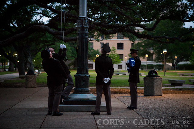 Muster Flag Raising Ceremony