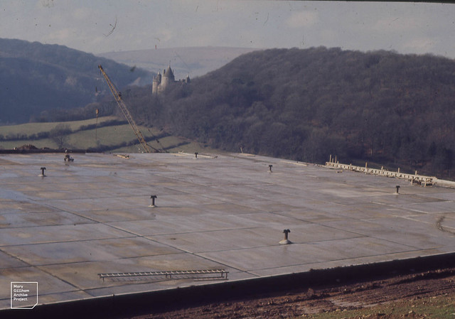 Tongwynlais covered reservoir, Castell Coch and Garths. February 1972