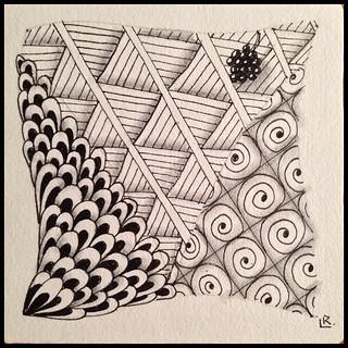 Zentangle 210 #zentangle #tangle #tangling #alphabetsalad #tenthousandtangles #laurelreganczt #czt | by Laurel Storey, CZT