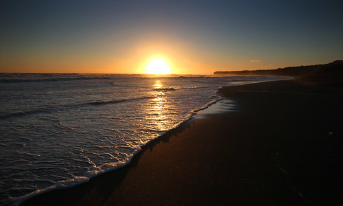 landscape coastal sunset patea pateabeach beach taranaki