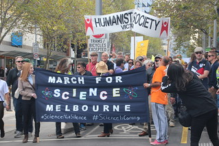 Leaving the state Library -Melbourne #MarchforScience on #Earthday