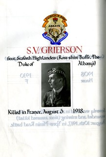 Grierson, Stanley Virtue (1898-1918) | by sherborneschoolarchives