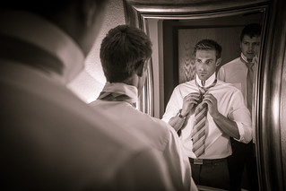 Groom Looks Into the Mirror   by VBuckley.com