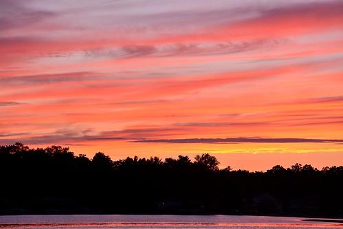 pink sunset summer orange lake tree yellow night mi purple cloudy best line lakemichigan westlake worldclass august2013
