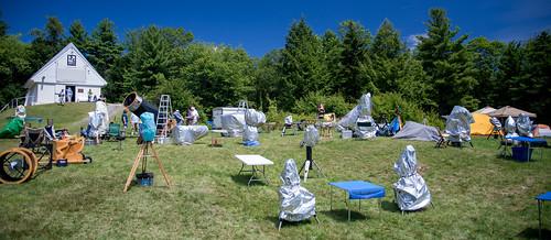 blue green field vermont telescope convention astronomy stellafane 2013