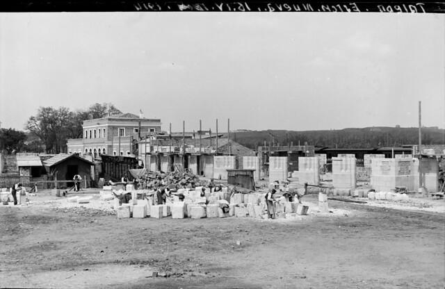Estación de ferrocarril de Toledo el 16 de abril de 1914  © Archivo Histórico Ferroviario del Museo del Ferrocarril de Madrid. Fotografía de Juan Salgado Lancha. Signatura 3492-IF MZA 0-7
