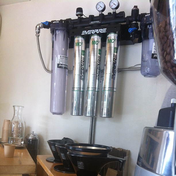 Pretty bad ass water filtering system at Be A Good Neighbor