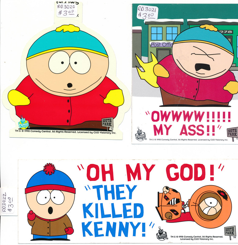 Vintage Southpark Stickers