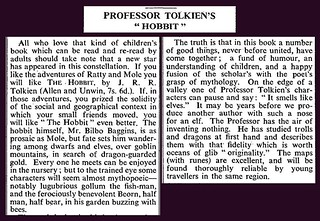 21st September 1937 - The Hobbit - The Times book review | by Bradford Timeline
