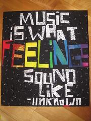 Tangled Textiles, challenge #10: music