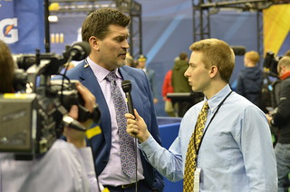 Mike Lucas Gets a Few Words from ESPN Analyst Mark Schlereth | by WEBN-TV