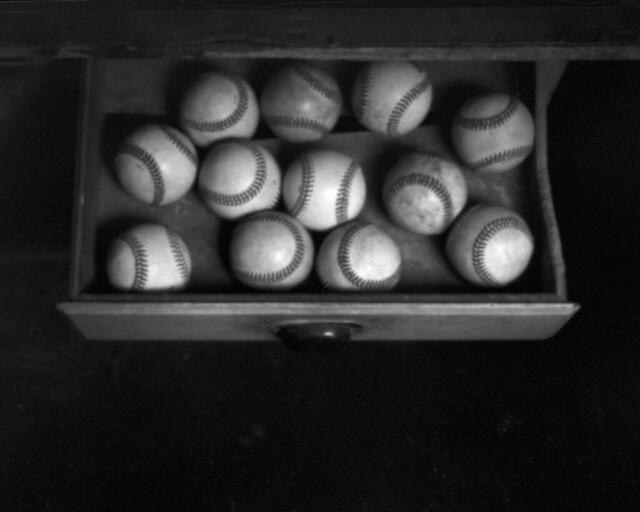 525  -  Pinhole - Baseballs Painted with Light