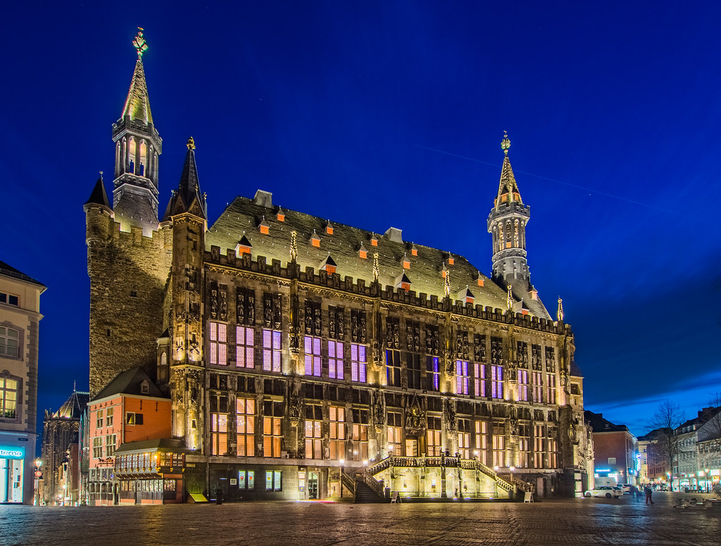 Aachen Town Hall | Blue Hour i...