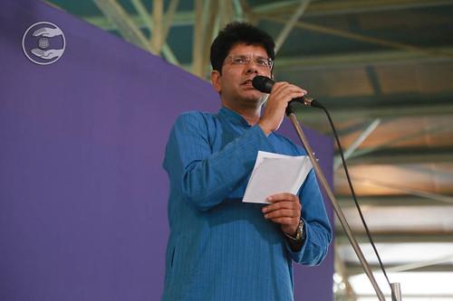 Stage Secretary, Rakesh Mutreja from Avtar Enclave, Delhi