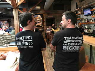 Ray and Marin with keynote shirts.jpg