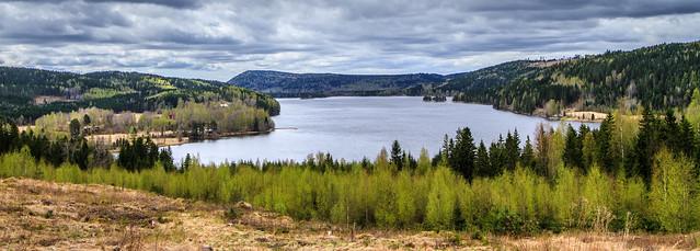 Spring at Lake Västra Örten in Värmland in Sweden