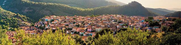 Αγιάσος Λέσβου panorama 11cps