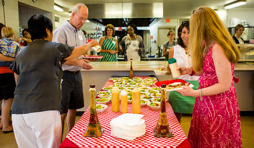 Guests moving through the serving line at Guardian ad Litem Appreciation Day on June 15, 2013 in Tallahassee, Florida. | by flguardian2