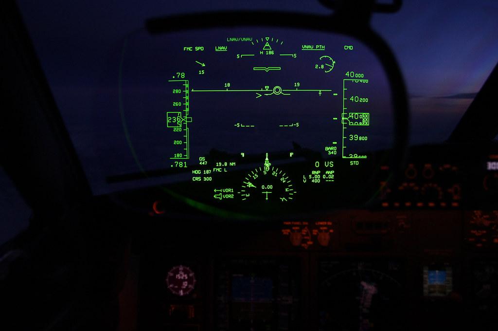 B737NG HGS system | Cruising southbound over Iran at 40000 f