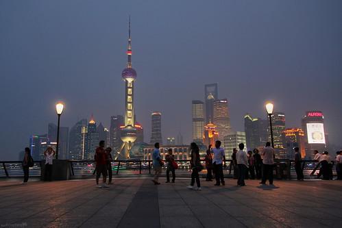 Shanghai at night   by IsaacToru