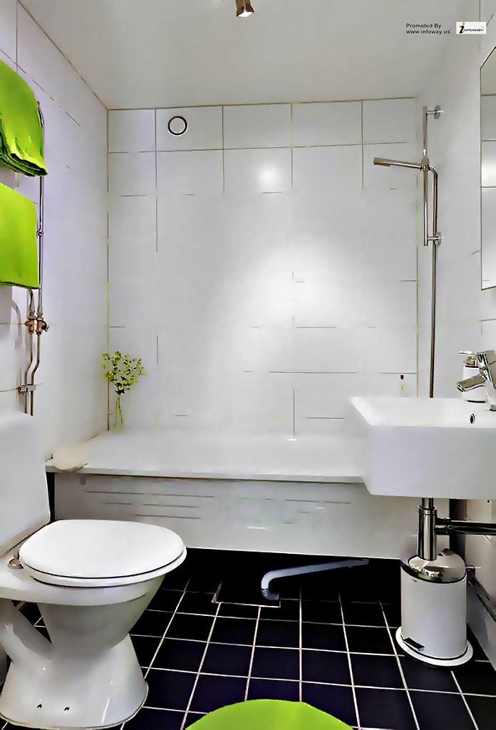 Black and white for unique bathroom