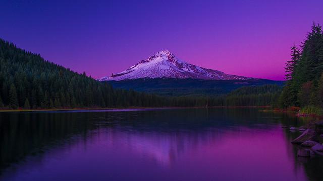 Mt Hood at sunset