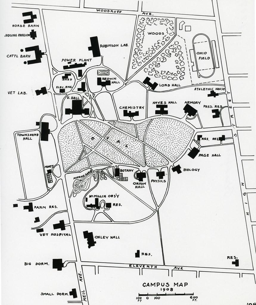 1908 Campus Map Campus Map Bradford Restoration 1908 The