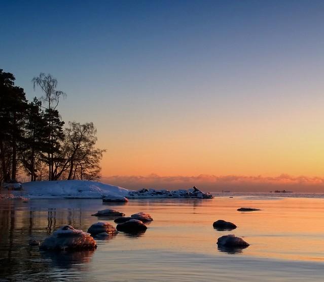 Sunset at Lauttasaari