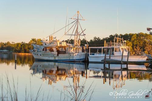 sunset reflection water landscape boats nikon alabama bonsecour escc d700 camerasouth debbiegodard imagesofbaldwincounty