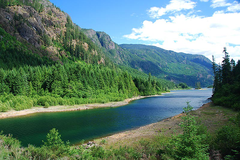 Buttle Narrows, Strathcona Provincial Park, Central Vancouver Island, British Columbia, Canada