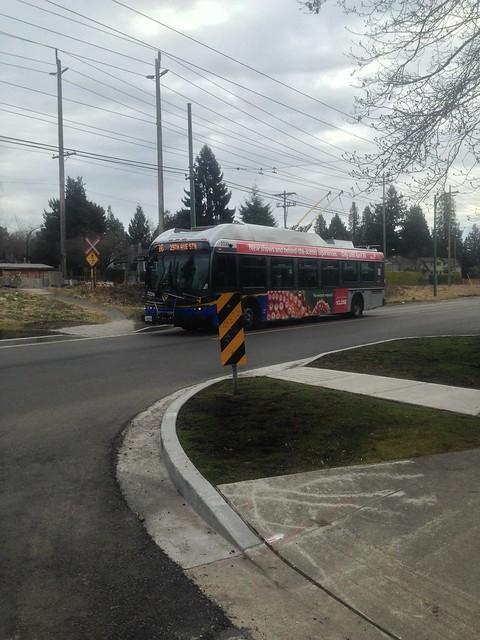 Trolley passing by in Kerrisdale