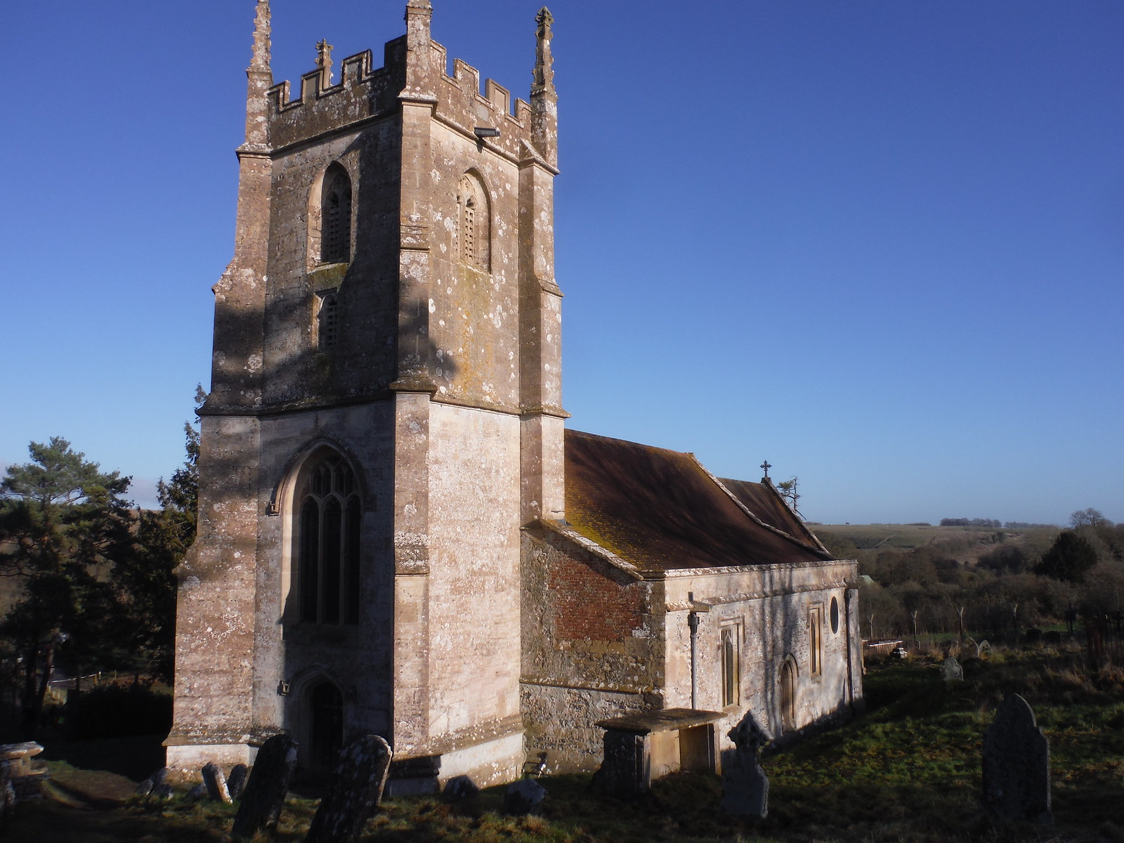 St. Giles, Imber Church SWC Walk 286 Westbury to Warminster (via Imber Range)