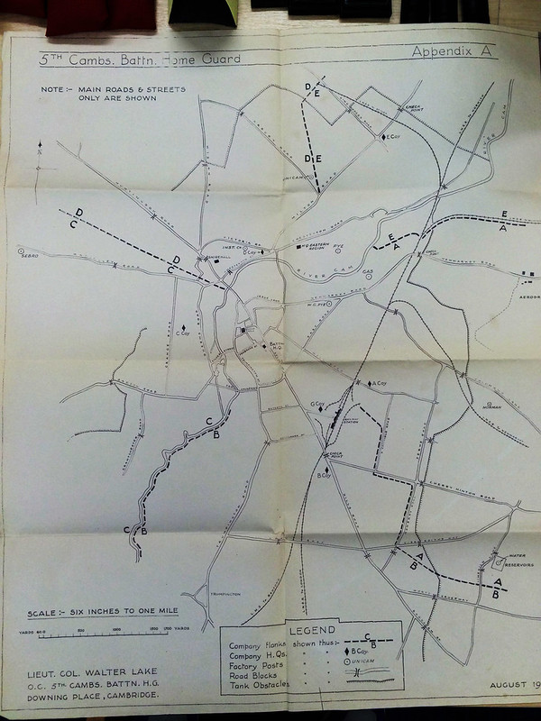 Cambridge defence plan in WWII
