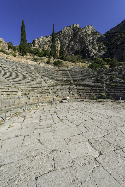 Delphi, The Northern Slope of the Sanctuary – II - The Theater