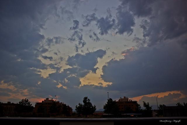 Paisaje Montecarmelita nublado